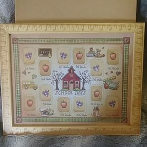 School days country photo frame